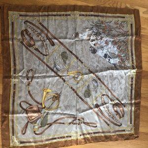 Accessories - English hunting theme silk scarf
